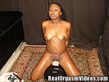 Ebony College Girl Cums on Sybian