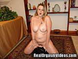 Busty Blonde MILF Orgasms Riding the Sybian