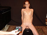 Teen College Girl Orgasms Riding the Sybian