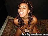 Ebony Queen Gets Her Freak On the Sybian