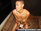 Tattooed Black Chick Gets Off on the Sybian