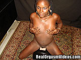 Thin Nubian Girl Orgasms Riding the Sybian