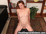 Cute Red Head Rides The Sybian